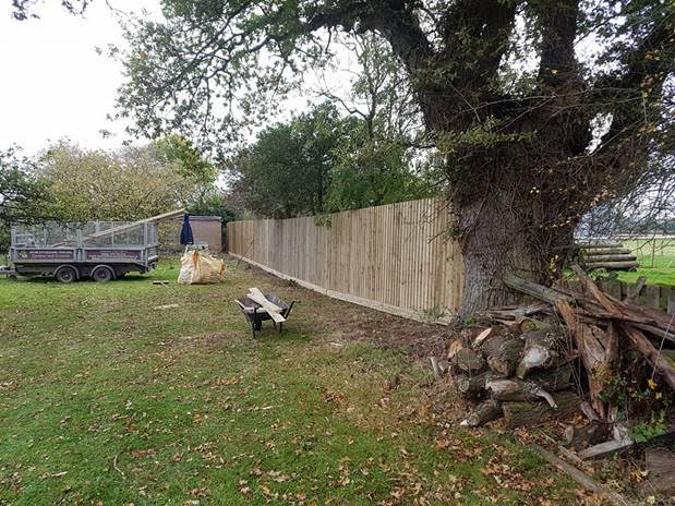 And This Is The Same Fence On Completion