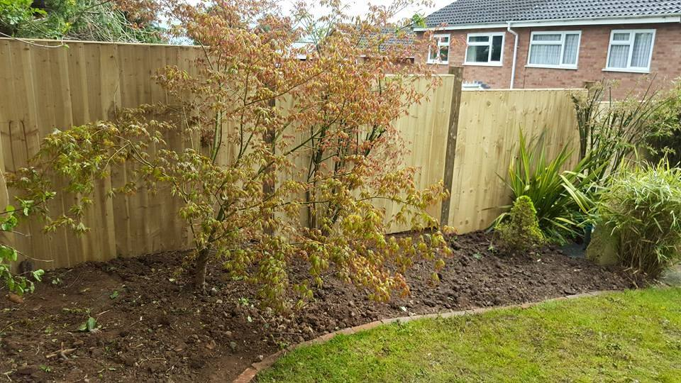This Picture Shows A Close Board Style Fence Using Timber Posts