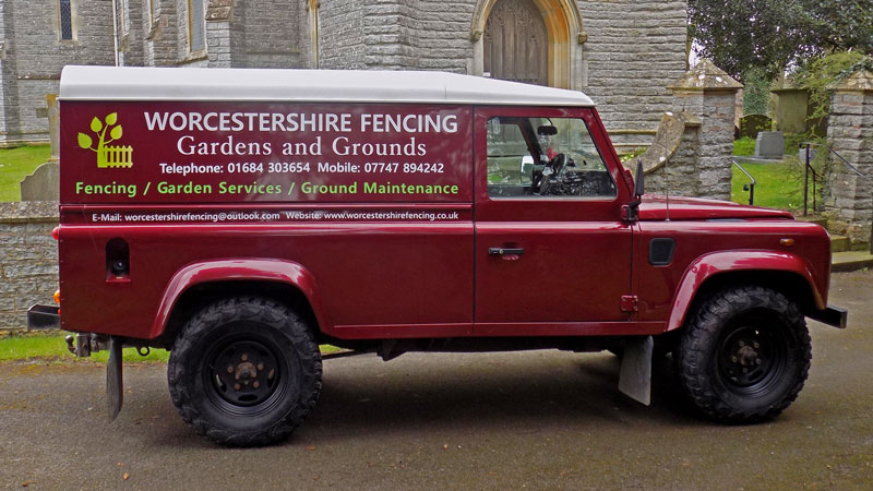 Worcestershire Fencing Land Rover